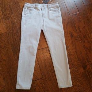 Size 10, Ann Taylor Loft, light gray stretch jeans